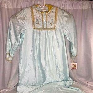 Vintage Barbizon Cuddleskin Lace Long Nightgown L